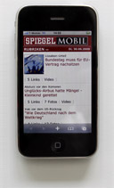 Mobile Usability-Test mit Touch Screen Phone